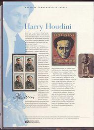 3651 37c Houdini Commemorative Panel CAT 656 3651panel