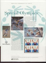3771 80c Special Olympics Commemorative Panel CAT 679 19058