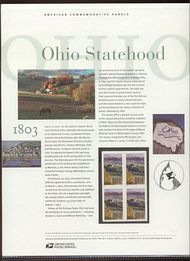 3773 37c Ohio Statehood Commemorative Panel CAT 681  cp681