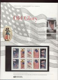 3776-80 37c Old Glory Booklet Pane Commemorative Panel CAT 683 cp683