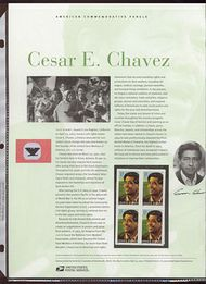3781 37c Cesar Chavez Commemorative Panel CAT 684  cp684