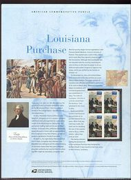 3782 37c Louisiana Purchase Commemorative Panel CAT 685 19052