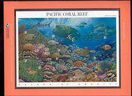 3831 37c Pacific Reef Commemorative Panel CAT 699  cp699