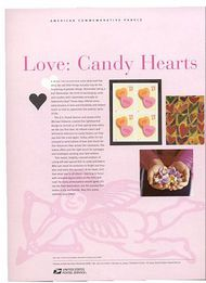 3833 37c Candy Hearts Commemorative Panel CAT 701 cp701