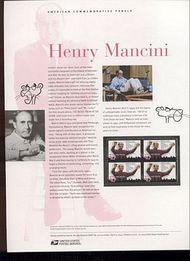 3839 37c Henry Mancini Commemorative Panel CAT 707 cp707