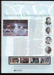 3840-3 37c American Choreographers Commemorative Panel CAT 708 cp708