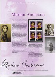 3896 37c Marian Anderson Commemorative Panel CAT 729 CP729