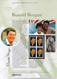 3897 37c Ronald Reagan Commemorative Panel CAT 730 CP730
