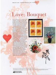 3898 37c Love Bouquet Commemorative Panel CAT 731 CP731