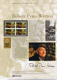 3904 37c Robert Penn Warren Commemorative Panel CAT 734 CP734