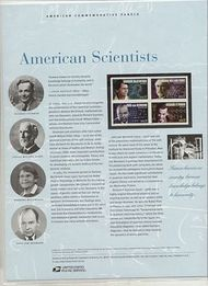 3906-09 37c American Scientists Commemorative Panel CAT 736  CP736