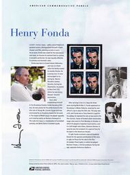 3911 37c Henry Fonda Commemorative Panel CAT 738  CP738