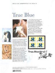 3976 (39c) True Blue Lovebirds Commemorative Panel CAT 753 CP753