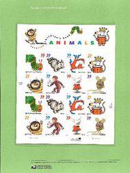 3987-94 39c Childrens Book Animals Commemorative Panel CAT 754  CP754