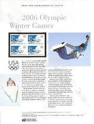 3995 39c Winter Olympics Commemorative Panel CAT 755  CP755