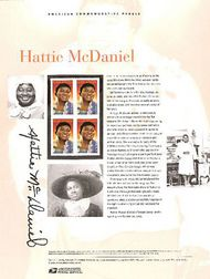 3996 39c Hattie McDaniel Commemorative Panel CAT 756 CP756