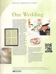 3999 63c Our Wedding Commemorative Panel CAT 759  CP759
