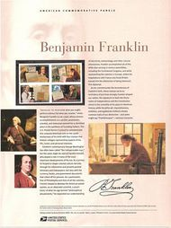 4021-24 39c Benjamin Franklin Commemorative Panel CAT 761 CP761