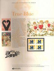 4029 39c True Blue Lovebirds  Commemorative Panel CAT 763  CP763