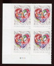 5036 Forever Quilled Paper Heart Plate Block 5036pb
