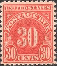 J 85 30c Carmine Postage Due F-VF NH Plate Block of 4 j85pb