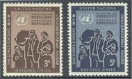 UNNY 15-16 3c-5c Refugee Family UN New York F-VF Mint NH ny15-6