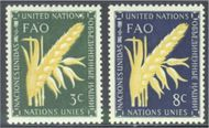 UNNY 23-24 3c-8c Food & Agric. Org UN New York F-VF Mint NH ny23-24