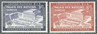 UNNY 27-28 3c-8c U.N. European Off UN New York F-VF Mint NH ny27-8