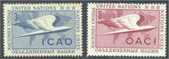 UNNY 31-32 3c-8c Inrl Civil Aviation UN New York F-VF Mint NH ny31-2