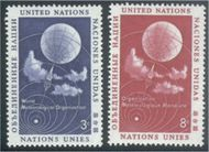 UNNY 49-50 UN 3c-8c Meteorological Org.New York F-VF Mint NH 49-50un