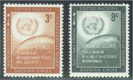 UNNY 55-56 3c-8c Security Council UN New York F-VF Mint NH 55-56un