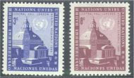 UNNY 61-62 3c-8c Central Hall, UN New York F-VF Mint NH 61-62un