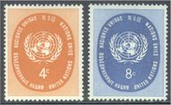 UNNY 63-64 4c-8c Regular, U.N. Seal UN New York F-VF Mint NH 63-64un