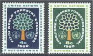 UNNY  81-82 4c-8c World Forestry Congress UN New York F-VF Mint NH NY0081-82