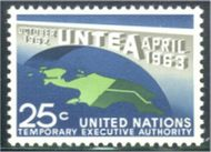 UNNY 118 25c UNTEA UN New York F-VF Mint NH NY0118