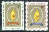 UNNY 121-22 5c-11c Human Rights UN New York F-VF Mint NH NY0121-22