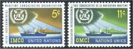 UNNY 123-24 5c-11c Maritime Cons. Org UN New York F-VF Mint NH NY0123-24