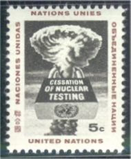 UNNY 133 5c End Nuclear Tests UN New York F-VF Mint NH NY0133