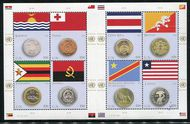 UNNY 1103 49c Coin and Flag Sheet of 8 ny1103