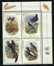 UNNY 1106-9 $1.20 Endangered Species Block of 4 ny1106-9