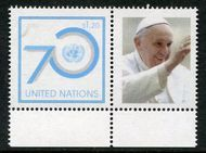 UNNY 1118a $1.20 Pope Francis Single Plus Tab nh1118a