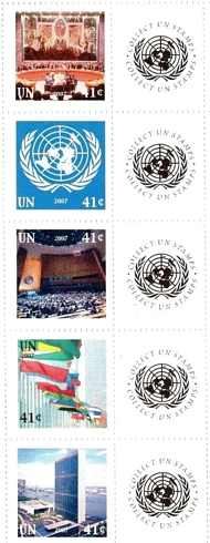 UNNY 934-38 41c Personalized Stamps strip of 5 ny934str