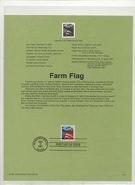 3495     34c Farm Flag USPS Souvenir Page Jan-51
