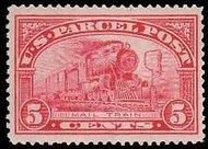 Q 5 5c Parcel Post Mail Train F-VF Mint NH q5nh