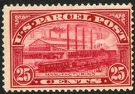 Q 9 25c Parcel Post Manufacturing F-VF Mint NH q9nh