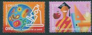UNG 650-51 1 fr, 2 fr World Health Day Singles Mint NH ung650-1nh