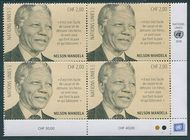 UNG 656 2 fr Nelson Mandela Day Inscription Block Mint NH ung656ib