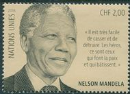 UNG 656 2 fr Nelson Mandela Day Single Mint NH ung656nh