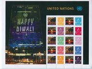 UNNY 1206-1207 $1.15 Diwali Personalized Sheet unny1206-7sh