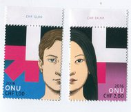 UNG 615-6 1.00,2.00 Fr He for She Mint Singles ung613-4nh